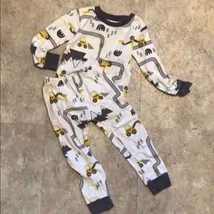 Boys construction pajamas